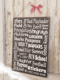 A Personalised Bespoke Typographic Board